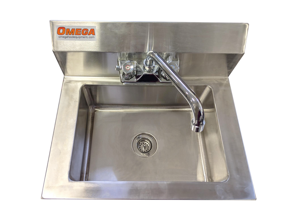 Omega SSHS15 Large Wall Mounted Hand Sink
