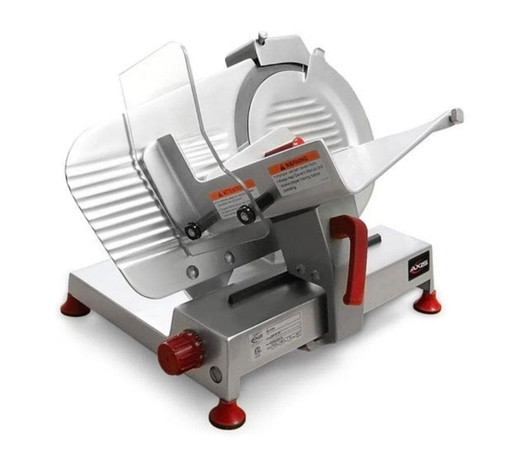 "Axis AX-S9U Ultra Manual Aluminum Meat Slicer - 9"" Blade, 1/4 HP, Belt Drive"