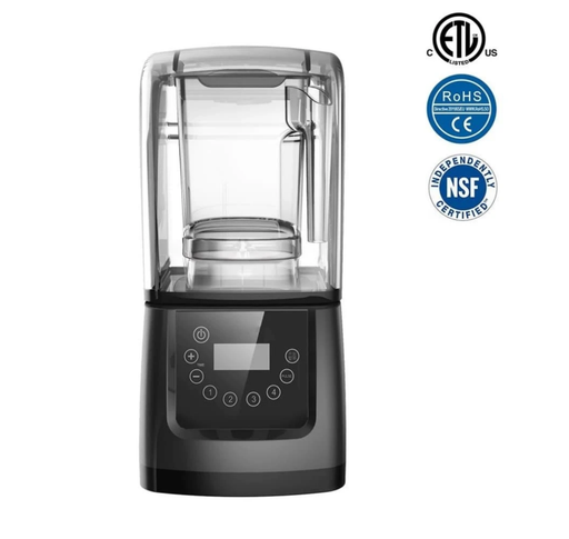 Omega HS-S340 Commercial Blender with Digital Controls & Sound Enclosure - 50 Oz/1.5L, 2.5 HP