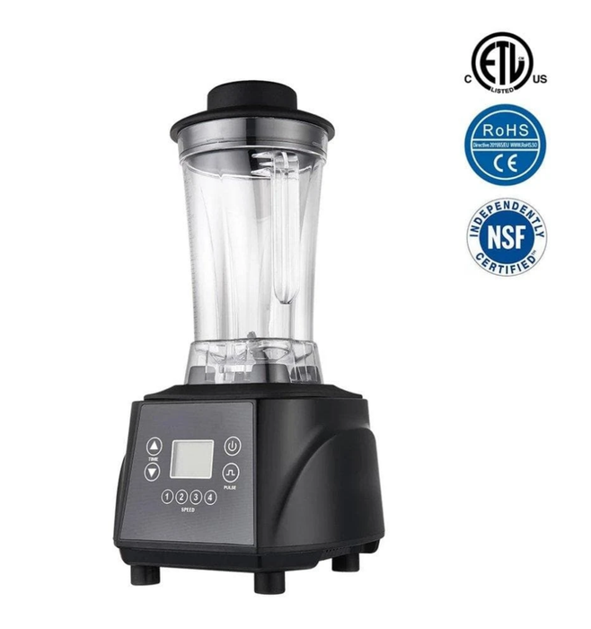 Omega HS-7340 Commercial Blender with Digital Controls - 68 Oz/2L Capacity, 2.5 HP