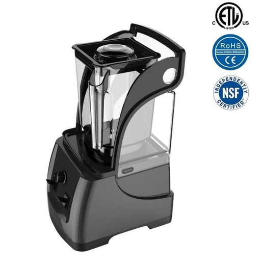 Omega HS-S240 Commercial Blender with Manual Controls & Sound Enclosure - 50 Oz/1.5L, 2.5 HP