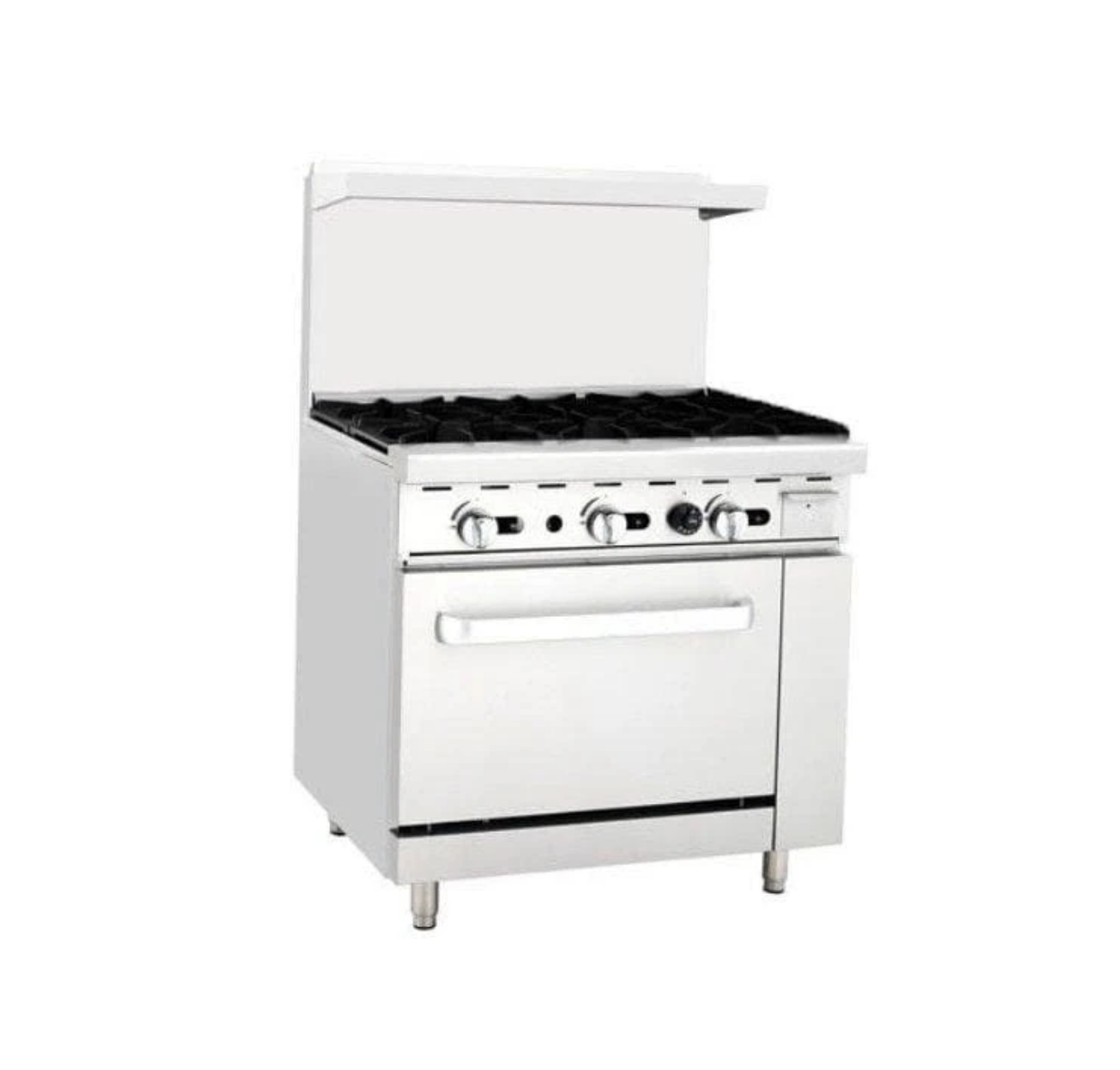 Omega ATO-6B Natural Gas 6 Burner Stove Top Range