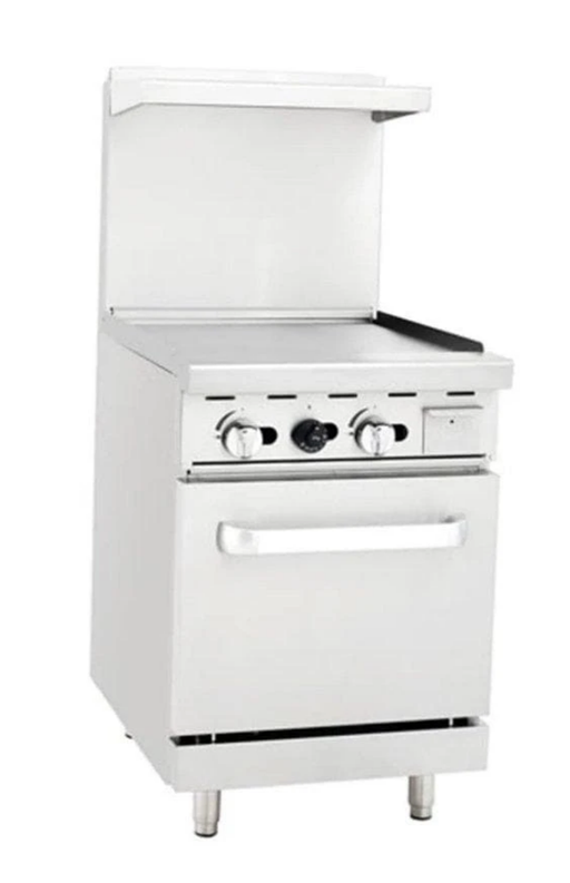 "Omega ATO-24G Natural Gas 24"" Griddle Stove Top Range"
