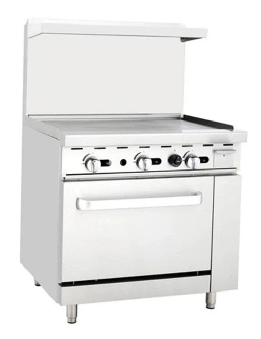 "Omega ATO-36G Natural Gas 36"" Griddle Stove Top Range"