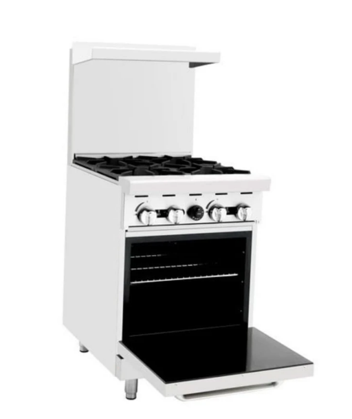 Omega ATO-4B Natural Gas 4 Burner Stove Top Range