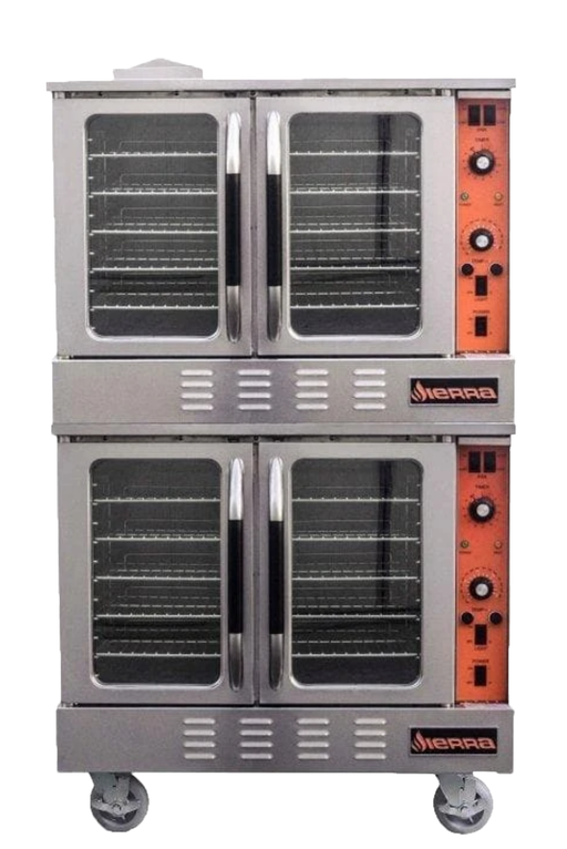 Sierra SRCO-2E Double Electric Convection Oven - 208-240V, Three Phase, Fits 10 Full Size Sheet Pans