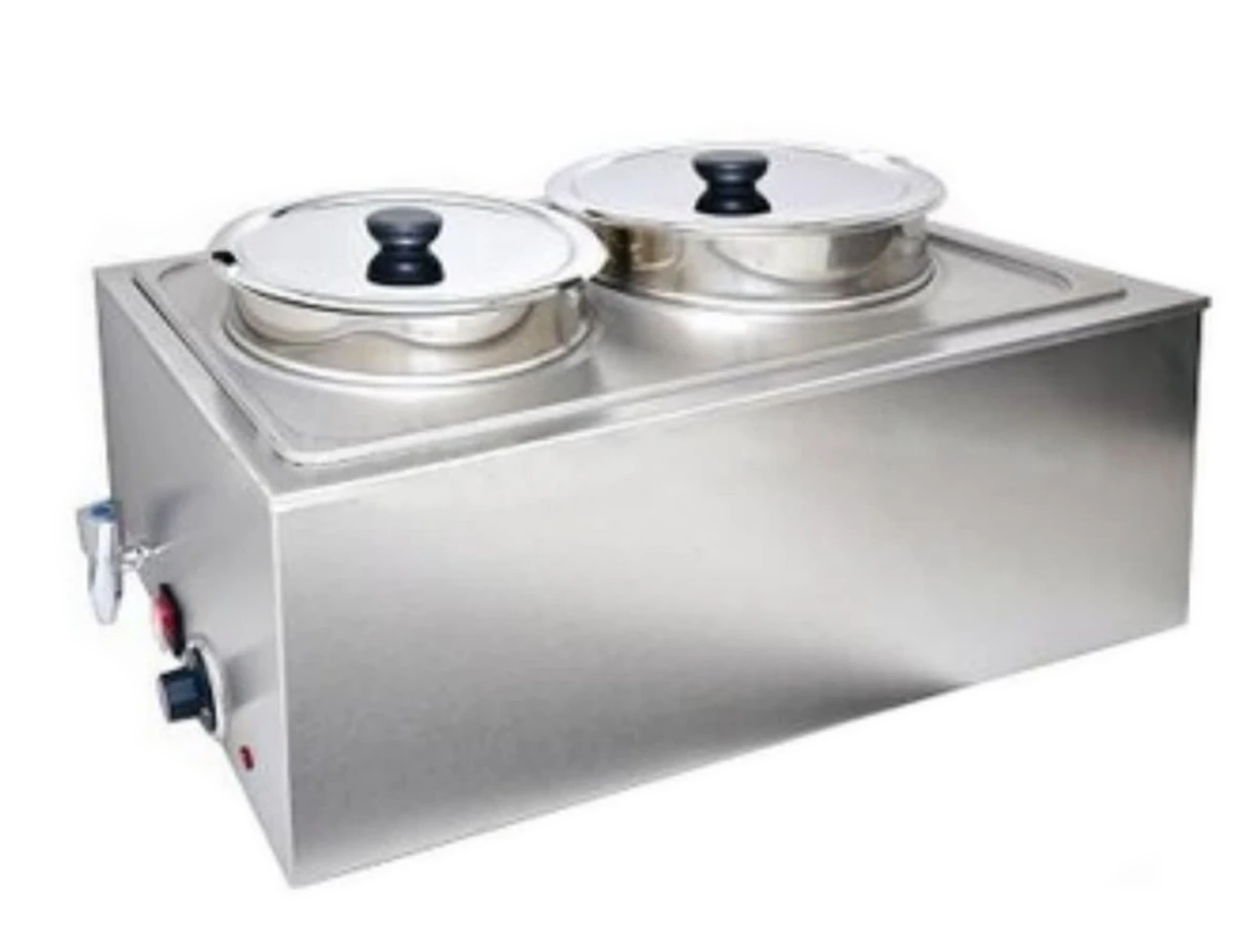 Omega ZCK165AT-4 Full Size Stainless Steel Electric Food Warmer with Soup Inserts