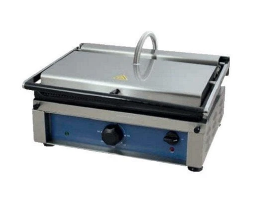 "Canco OTM2530 Small 10"" x 12"" Single Press Panini Grill - Ribbed Cooking Surface"