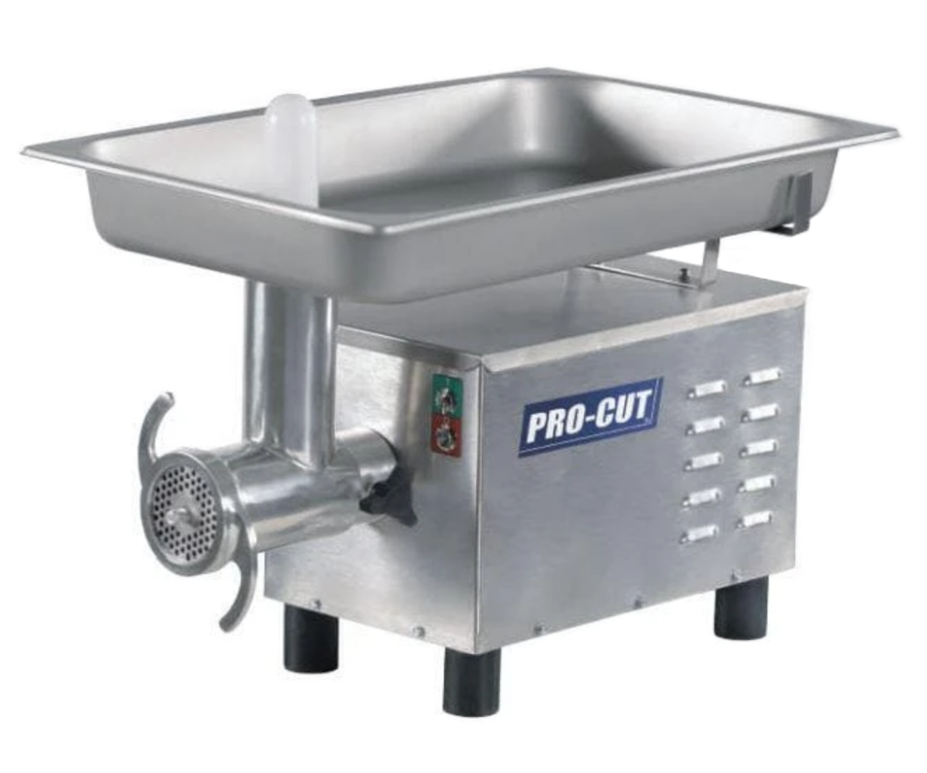 "Pro-Cut KG-12-SS Size 12 Meat Grinder - Large 20.8"" x 13"" Feeding Pan, 3/4 HP, 120V, Single Phase"