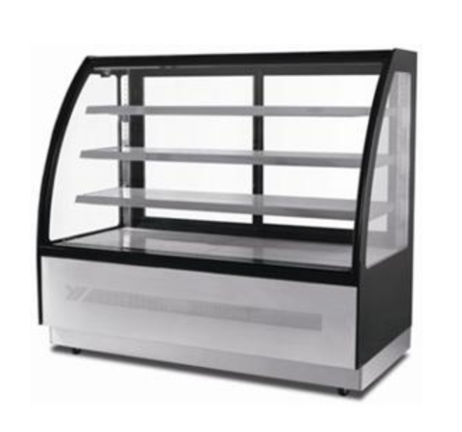 "Suttonaire WDF157D Curved Glass 59"" Refrigerated Pastry/Deli Display Case"