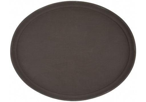 Winco Oval Easy-Hold Rubber-Lined Tray