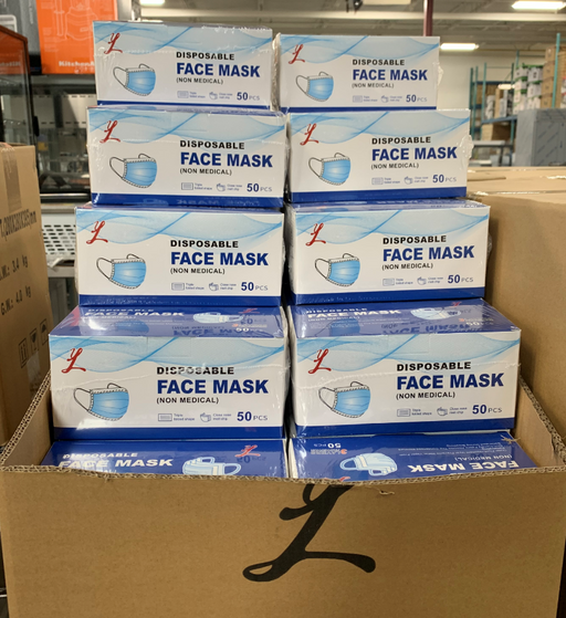 Carton of Adult Masks NMMASK-ADCRT40 (50 masks x 40 boxes = 2000 Adult masks)