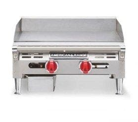"American Range AETG-24 Thermostatic Natural Gas/Propane 24"" Griddle - Omni Food Equipment"