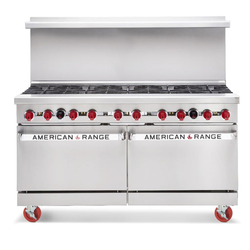 "American Range AR-10 Natural Gas 60"" 10 Burner Stove Top Range - Other Combinations Available - Omni Food Equipment"