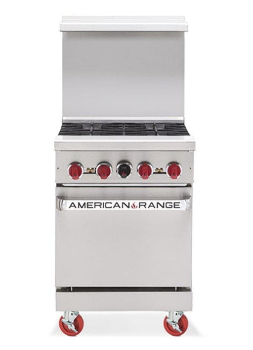 "American Range AR-4 Natural Gas 24"" 4 Burner Stove Top Range - Other Combinations Available - Omni Food Equipment"