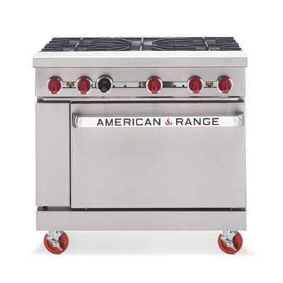 "American Range AR-5 Natural Gas 36"" 5 Burner Stove Top Range - Other Combinations Available - Omni Food Equipment"