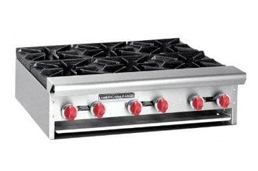 "American Range ARHP-12-2 Natural Gas/Propane 12"" Wide 2 Burner Hot Plate - Omni Food Equipment"