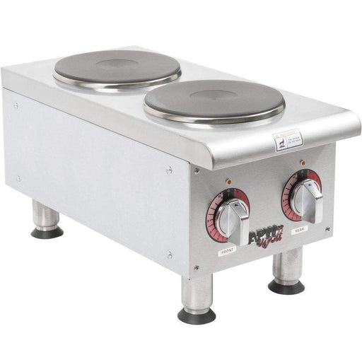 APW Wyott SEHPi-240V Electric 2 Burner Hot Plate - 240V - Omni Food Equipment
