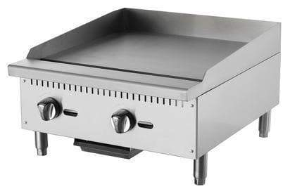 "Omega ATTG-24 Natural Gas/Propane 24"" Thermostatic Griddle"