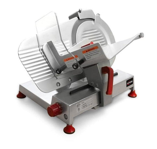 "Axis AX-S10U Ultra Manual Aluminum Meat Slicer - 10"" Blade, 1/3 HP, Belt Drive - Omni Food Equipment"