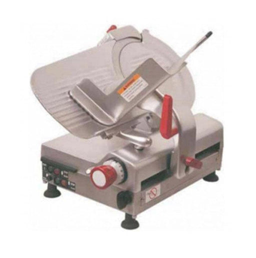 "Axis AX-S12BA Automatic Aluminum Meat Slicer - 12"" Blade, 0.55 HP, Belt Drive - Omni Food Equipment"