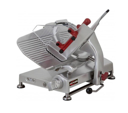 "Axis AX-S13G Manual Aluminum Meat Slicer - 13"" Blade, 1/2 HP, Gear Drive - Omni Food Equipment"