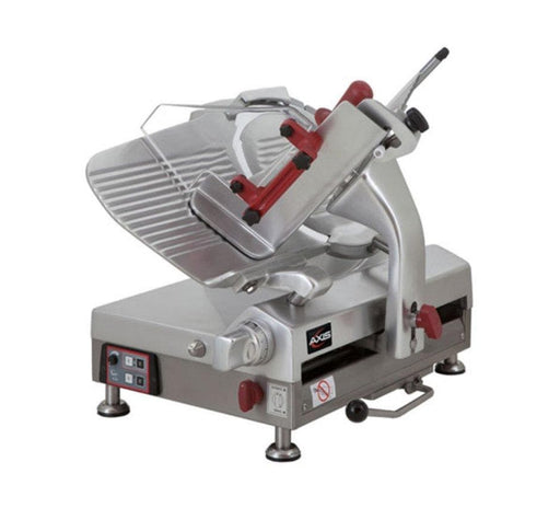 "Axis AX-S13GA Automatic Aluminum Meat Slicer - 13"" Blade, 3/5 HP, Gear Drive - Omni Food Equipment"