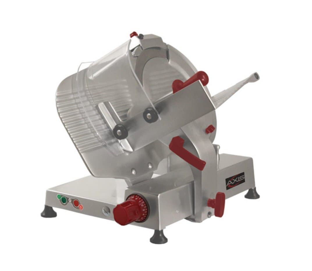 "Axis AX-S14U Ultra Manual Aluminum Meat Slicer - 14"" Blade, 1/2 HP, Belt Drive - Omni Food Equipment"