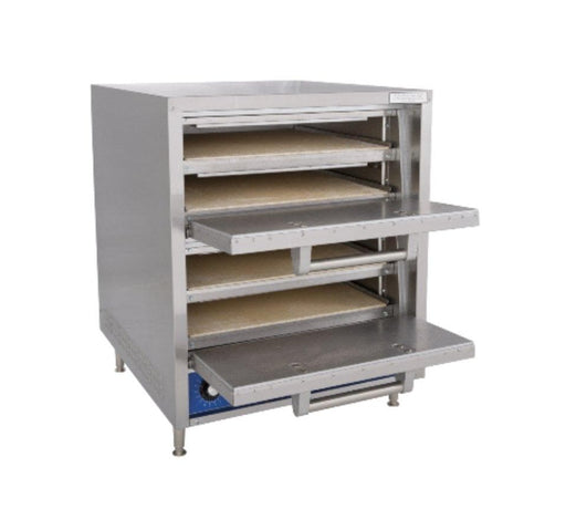 "Bakers Pride P44S Electric Hearthbake 21"" Deck Double Door Commercial Pizza & Pretzel Oven - Omni Food Equipment"