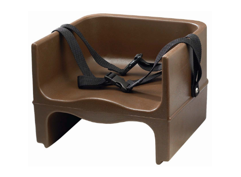 Winco Brown Double-Sided Booster Seat