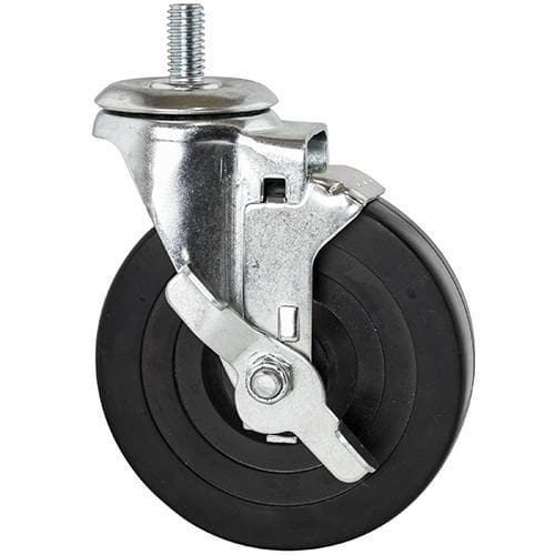 Canarac Casters For Wire Shelving (Set of 4) - Rubber & Polyurethane Options - Omni Food Equipment
