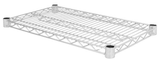 Canarac Individual Chrome/Black Epoxy Wire Shelf - Various Sizes - Omni Food Equipment