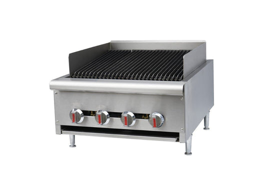"Canco CB-24 Natural Gas/Propane 24"" Heavy Duty Charbroiler - Omni Food Equipment"