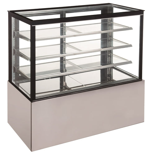 "Canco CD1200-3-HC Flat Glass 3 Tier 48"" Refrigerated Pastry Display Case - Omni Food Equipment"