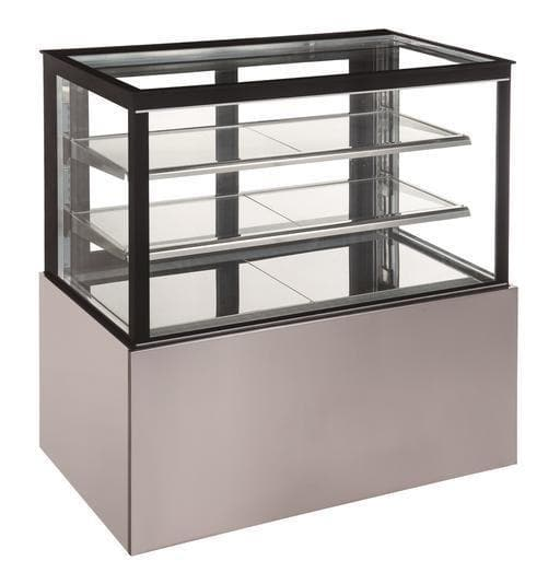 "Canco CD1500-2-HC Flat Glass 2 Tier 59"" Refrigerated Pastry Display Case - Omni Food Equipment"
