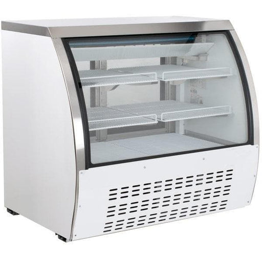 "Canco DC120-HC Curved Glass 47"" Refrigerated Deli Case - Omni Food Equipment"