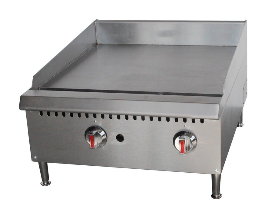 "Canco GG-24T Natural Gas/Propane 24"" Thermostatic Griddle - Omni Food Equipment"