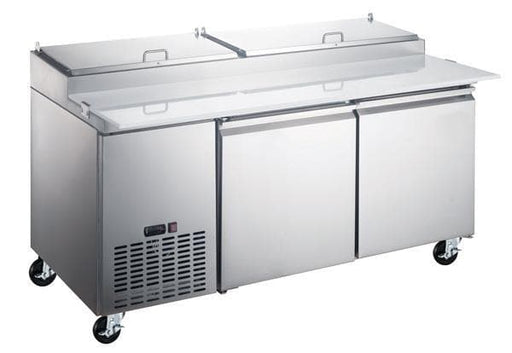 "Canco PICL2-HC Double Door 71"" Refrigerated Pizza Prep Table - Omni Food Equipment"