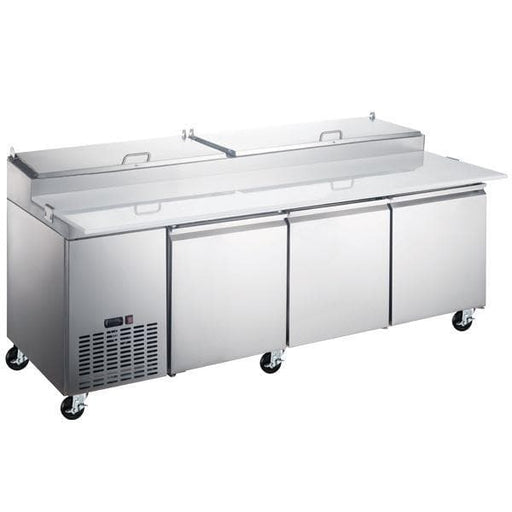 "Canco PICL3-HC Triple Door 92"" Refrigerated Pizza Prep Table - Omni Food Equipment"