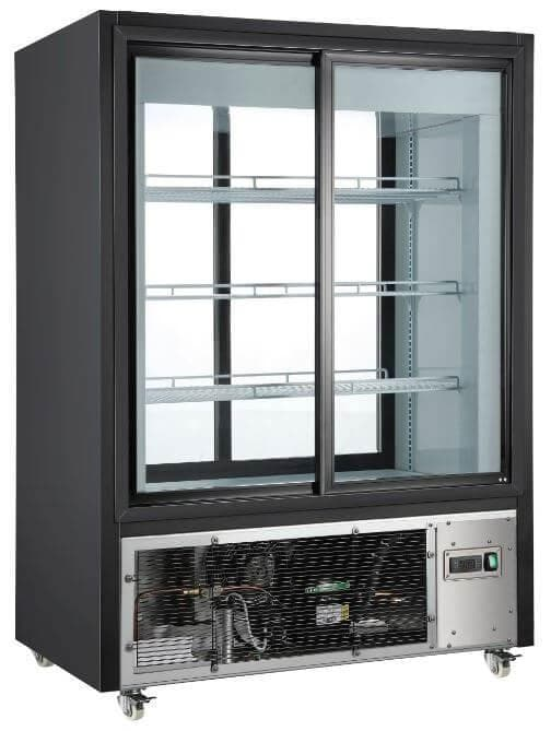 Canco RT-330L Double Sliding Door Pass Through Display Refrigerator - Omni Food Equipment