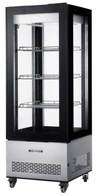 Canco RT-400L Four Sided Glass Door Display Refrigerator - Omni Food Equipment