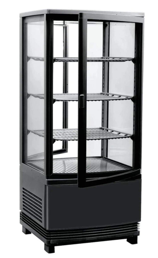 Canco RT-78L-2R Counter Top Four Sided Glass Door Display Refrigerator - Omni Food Equipment