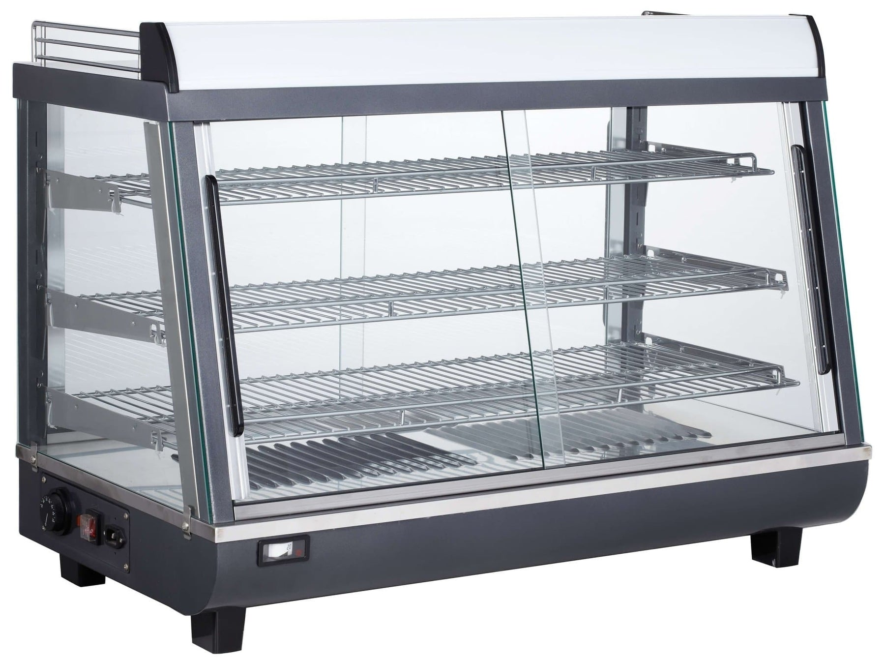"Canco RTR-136L Deluxe Glass Display 36"" Food Warmer - Omni Food Equipment"