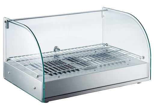 "Canco RTR-25L Curved Glass Display 22"" Food Warmer - Omni Food Equipment"