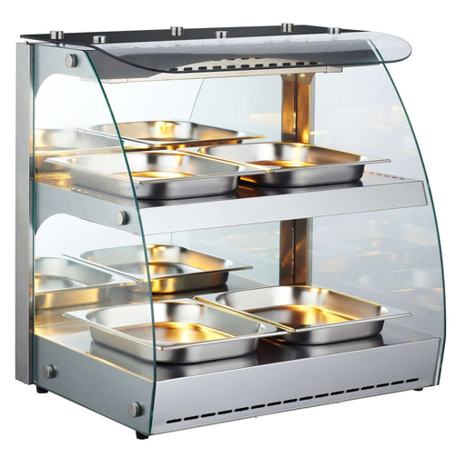 "Canco RTR-2D Open Glass Display 25"" Food Warmer - Omni Food Equipment"