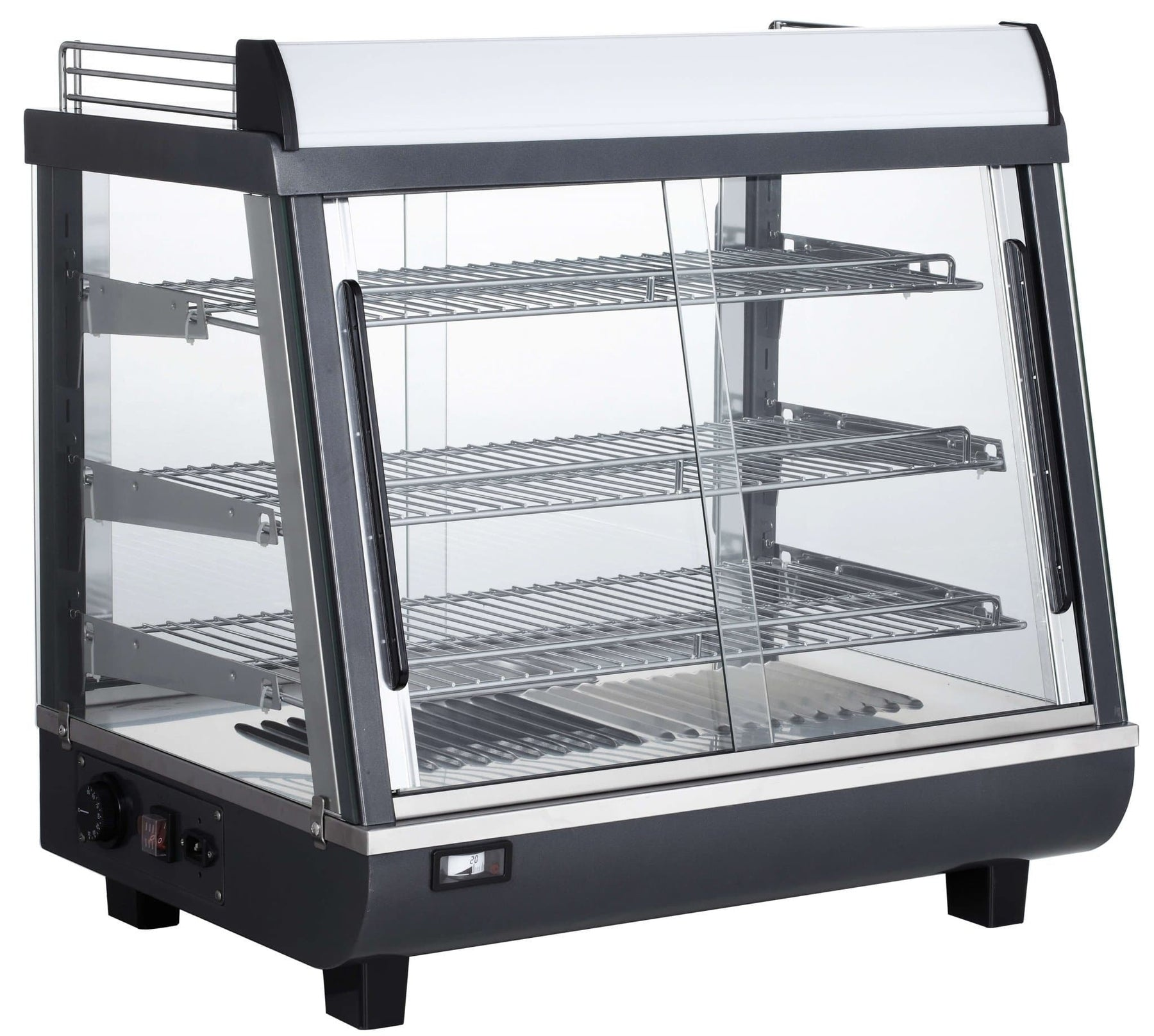 "Canco RTR-96L Deluxe Glass Display 27"" Food Warmer - Omni Food Equipment"