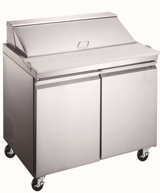 "Canco SP36-8 Double Door 36"" Refrigerated Sandwich Prep Table - Omni Food Equipment"