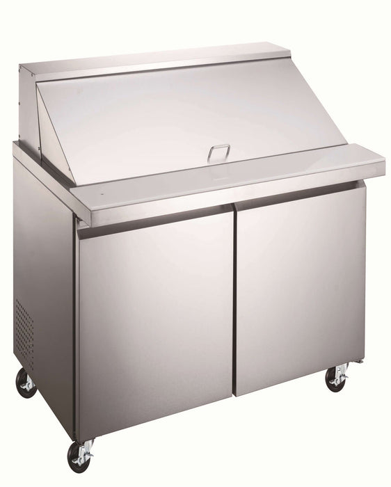 "Canco SPM36-12 Double Door 36"" Mega Top Refrigerated Sandwich Prep Table - Omni Food Equipment"