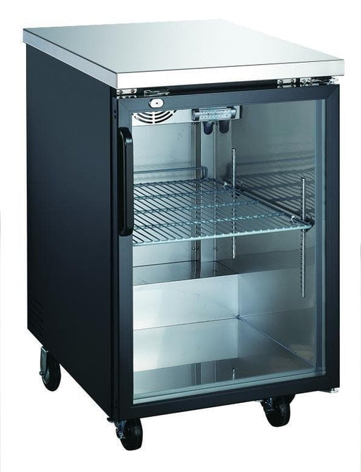 "Canco UBB-1G-HC Commercial 24"" Single Swing Glass Door Back Bar Cooler - Omni Food Equipment"