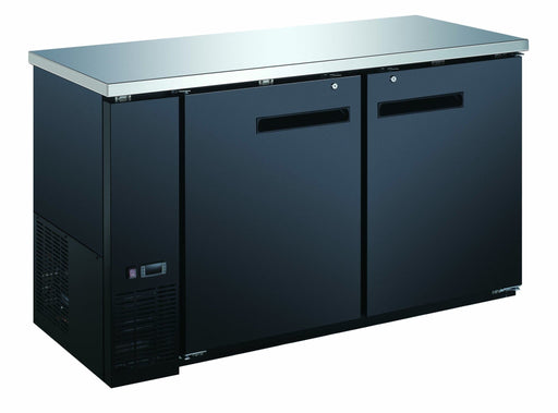 "Canco UBB-24-60F-HC Commercial 61"" Double Swing Door Back Bar Cooler - Omni Food Equipment"